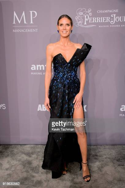 Heidi Klum attends the 2018 amfAR Gala New York at Cipriani Wall Street on February 7 2018 in New York City