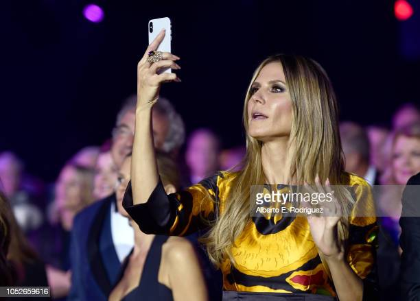 Heidi Klum attends the 2018 Children's Hospital Los Angeles 'From Paris With Love' Gala at LA Live on October 20 2018 in Los Angeles California