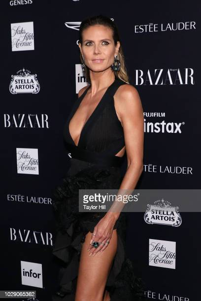 Heidi Klum attends the 2018 Harper's Bazaar ICONS Party at The Plaza Hotel on September 7 2018 in New York City