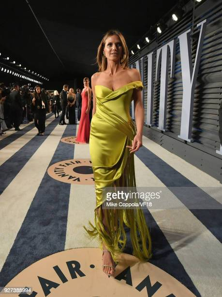 Heidi Klum attends the 2018 Vanity Fair Oscar Party hosted by Radhika Jones at Wallis Annenberg Center for the Performing Arts on March 4 2018 in...
