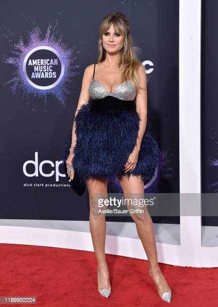 Heidi Klum attends the 2019 American Music Awards at Microsoft Theater on November 24 2019 in Los Angeles California