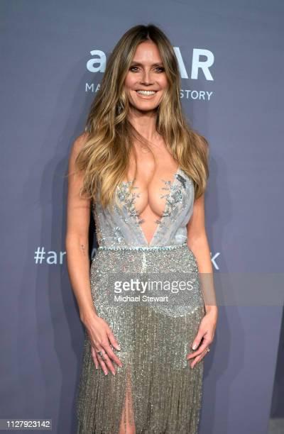 Heidi Klum attends the 2019 amfAR New York Gala at Cipriani Wall Street on February 06 2019 in New York City