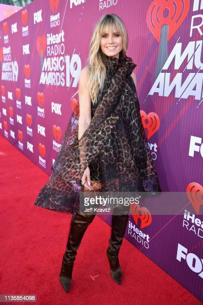 Heidi Klum attends the 2019 iHeartRadio Music Awards which broadcasted live on FOX at Microsoft Theater on March 14 2019 in Los Angeles California