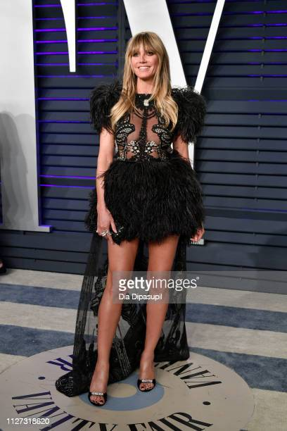 Heidi Klum attends the 2019 Vanity Fair Oscar Party hosted by Radhika Jones at Wallis Annenberg Center for the Performing Arts on February 24 2019 in...