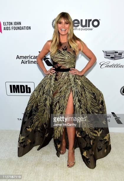 Heidi Klum attends the 27th annual Elton John AIDS Foundation Academy Awards Viewing Party sponsored by IMDb and Neuro Drinks celebrating EJAF and...