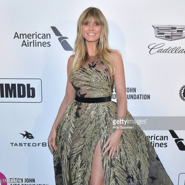 Heidi Klum attends the 27th annual Elton John AIDS Foundation Academy Awards Viewing Party celebrating EJAF and the 91st Academy Awards on February...