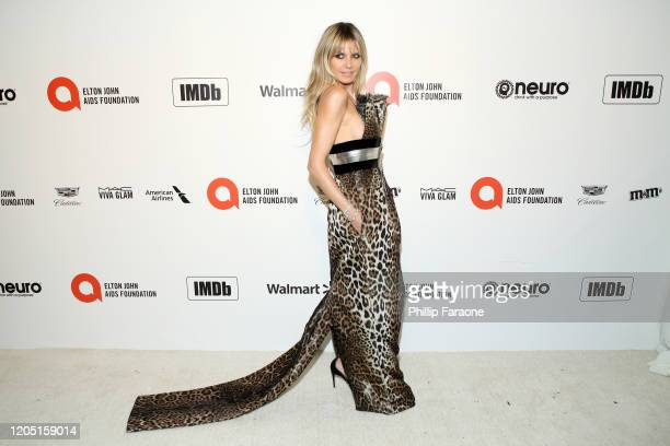Heidi Klum attends the 28th Annual Elton John AIDS Foundation Academy Awards Viewing Party Sponsored By IMDb, Neuro Drinks And Walmart on February...