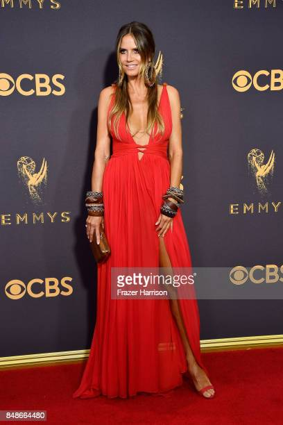 Heidi Klum attends the 69th Annual Primetime Emmy Awards at Microsoft Theater on September 17 2017 in Los Angeles California