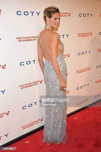 Heidi Klum attends the 6th annual DKMS Linked Against Blood Cancer gala at Cipriani Wall Street on April 26 2012 in New York City