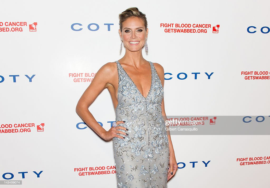 Heidi Klum attends the 6th annual DKMS Linked Against Blood Cancer gala at Cipriani Wall Street on April 26, 2012 in New York City.