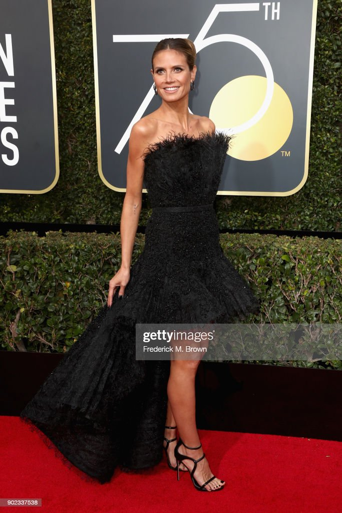 Heidi Klum attends The 75th Annual Golden Globe Awards at The Beverly Hilton Hotel on January 7, 2018 in Beverly Hills, California.