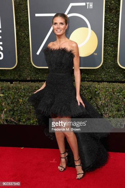 Heidi Klum attends The 75th Annual Golden Globe Awards at The Beverly Hilton Hotel on January 7 2018 in Beverly Hills California