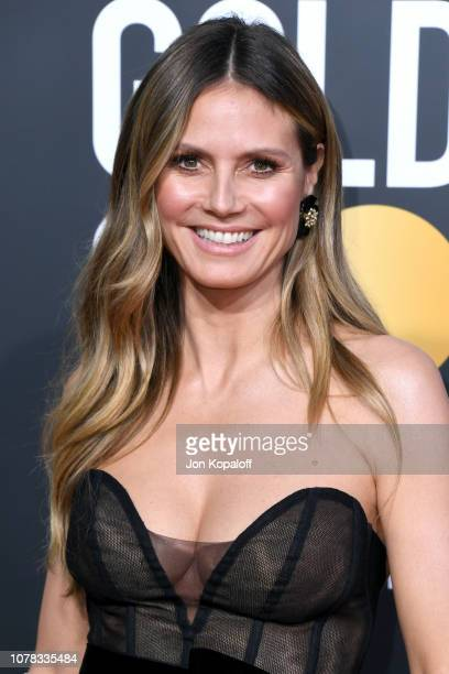 Heidi Klum attends the 76th Annual Golden Globe Awards at The Beverly Hilton Hotel on January 6 2019 in Beverly Hills California