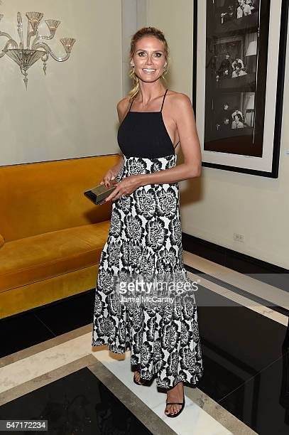 Heidi Klum attends the after party for the 'Cafe Society' premiere hosted by Amazon Lionsgate with The Cinema Society at The Carlyle on July 13 2016...