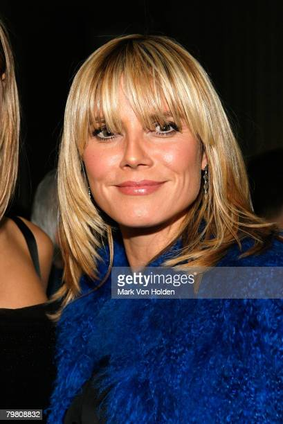 Heidi Klum attends the after party for the Cinema Society and W magazine's special screening of Marc Jacobs Louis Vuitton on January 31st 2007 in New...