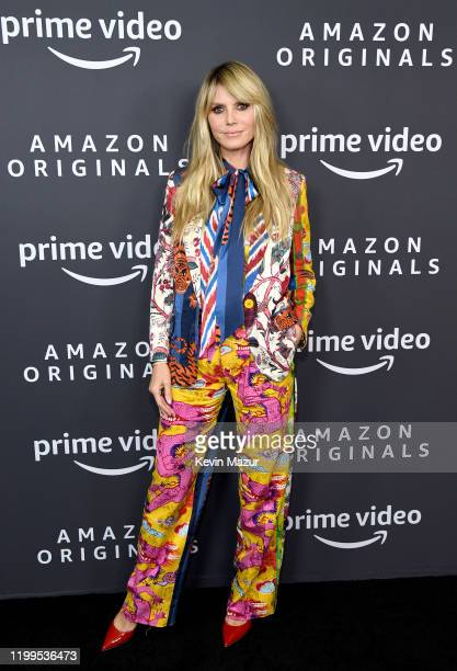 Heidi Klum attends the Amazon Studios 2020 Winter TCA Press Tour at Langham Hotel on January 14, 2020 in Pasadena, California.
