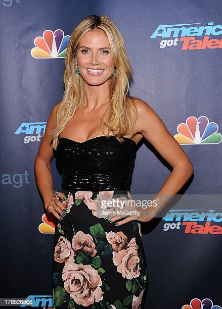Heidi Klum attends the America's Got Talent Post Show Red Carpet at Radio City Music Hall on August 14 2013 in New York City