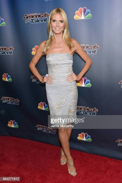 Heidi Klum attends the 'America's Got Talent' PostShow Red Carpet at Radio City Music Hall on August 27 2014 in New York City