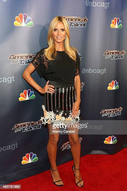Heidi Klum attends the 'America's Got Talent' PostShow Red Carpet Event at Radio City Music Hall on August 12 2015 in New York City