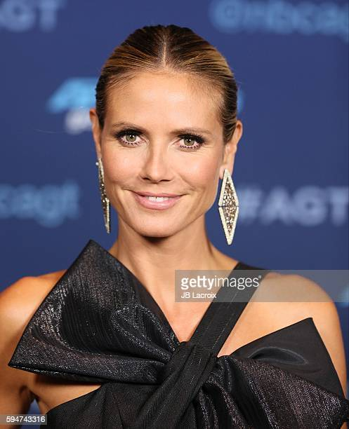 Heidi Klum attends the America's Got Talent Season 11 live show on August 23 2016 in Hollywood California
