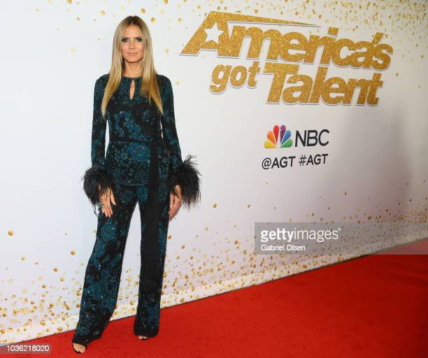 Heidi Klum attends the 'America's Got Talent' Season 13 Finale Live Show red carpet at Dolby Theatre on September 19 2018 in Hollywood California