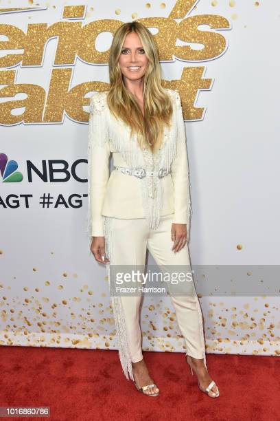 Heidi Klum attends the America's Got Talent Season 13 Live Show at Dolby Theatre on August 14 2018 in Hollywood California