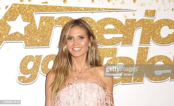 Heidi Klum attends the America's Got Talent Season 13 Live Show Red Carpet at the Dolby Theatre on September 18 2018 in Hollywood California