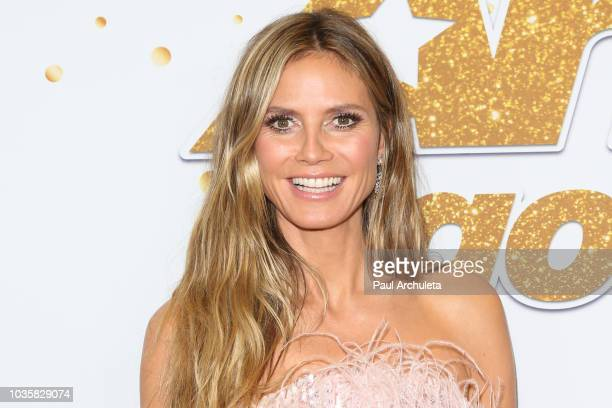 Heidi Klum attends the America's Got Talent season 13 live show Red Carpet at Dolby Theatre on September 18 2018 in Hollywood California