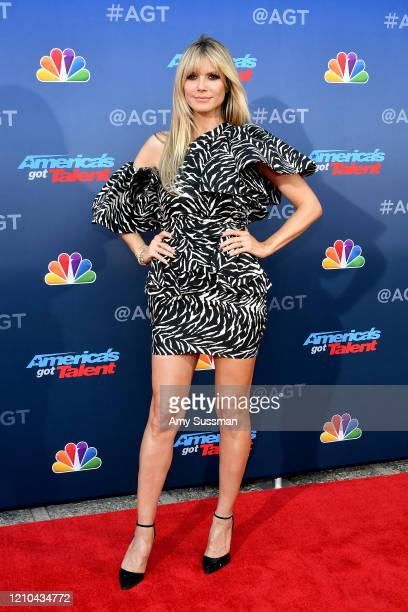 "Heidi Klum attends the ""America's Got Talent"" Season 15 Kickoff at Pasadena Civic Auditorium on March 04, 2020 in Pasadena, California."