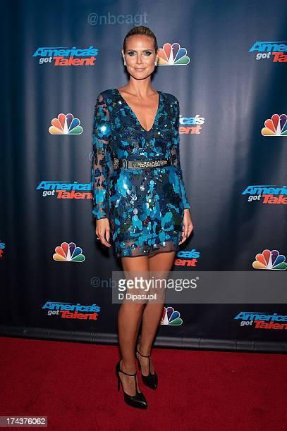 Heidi Klum attends the America's Got Talent Season 8 PostShow Red Carpet Event at Radio City Music Hall on July 24 2013 in New York City