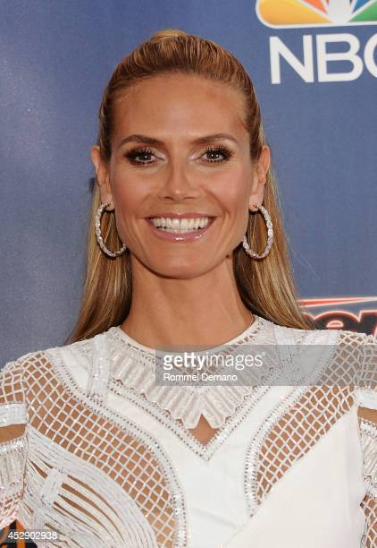 Heidi Klum attends the 'America's Got Talent' Season 9 pre show red carpet event at Radio City Music Hall on July 29 2014 in New York City