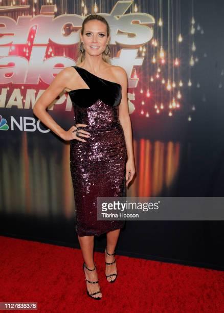 Heidi Klum attends the 'America's Got Talent The Champions' Finale at Pasadena Civic Auditorium on October 17 2018 in Pasadena California