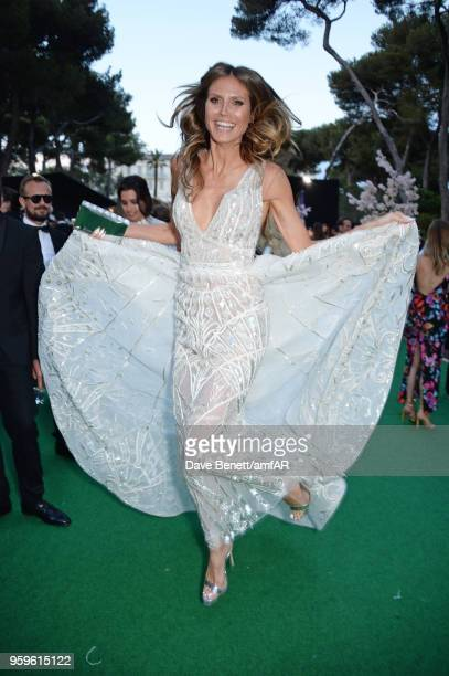 Heidi Klum attends the amfAR Gala Cannes 2018 dinner at Hotel du CapEdenRoc on May 17 2018 in Cap d'Antibes France
