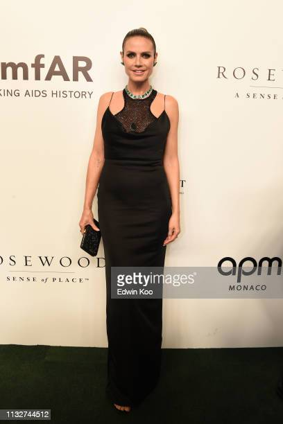 Heidi Klum attends the amfAR Gala Hong Kong 2019 at the Rosewood Hong Kong on March 25, 2019 in Hong Kong, Hong Kong.