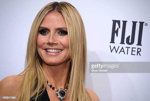 Heidi Klum attends the amfAR New York Gala to kick off Fall 2013 Fashion Week at Cipriani Wall Street on February 6 2013 in New York City