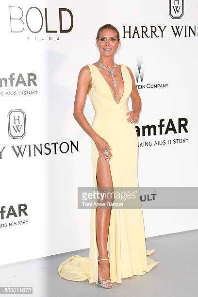 Heidi Klum attends the amfAR's 23rd Cinema Against AIDS Gala at Hotel du CapEdenRoc on May 19 2016 in Cap d'Antibes France