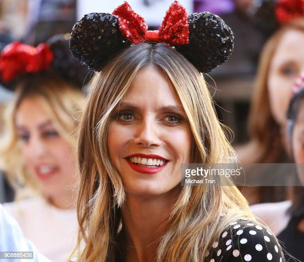 Heidi Klum attends the ceremony honoring Disney's Minnie Mouse 90th Anniversary with a Star on The Hollywood Walk of Fame held on January 22 2018 in...