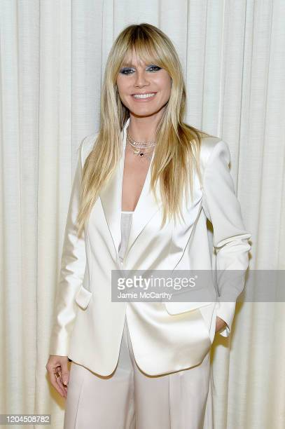 Heidi Klum attends the Christian Siriano Fall Winter 2020 NYFW at Spring Studios on February 06 2020 in New York City