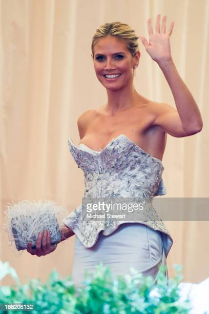 Heidi Klum attends the Costume Institute Gala for the 'PUNK Chaos to Couture' exhibition at the Metropolitan Museum of Art on May 6 2013 in New York...