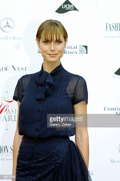 Heidi Klum attends the Council of Fashion Designers of America''s 20th Annual American Fashion Awards June 14, 2001 in New York City.