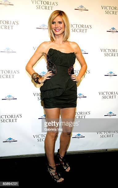 Heidi Klum attends the grand opening cocktail party for the new Victoria Secret Lexington Avenue Flagship Store on December 2 2008 in New York City