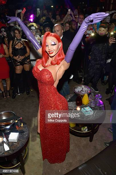 Heidi Klum attends the Heidi Klum's 16th Annual Halloween Party sponsored by GSN's Hellevator And SVEDKA Vodka At LAVO New York on October 31 2015 in...