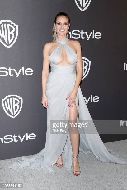 Heidi Klum attends the InStyle And Warner Bros Golden Globes After Party 2019 at The Beverly Hilton Hotel on January 6 2019 in Beverly Hills...