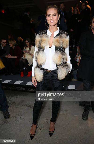 Heidi Klum attends the Kenneth Cole Collection Fall 2013 fashion show during MercedesBenz Fashion Week at 537 West 27th Street on February 7 2013 in...