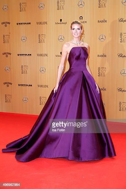 Heidi Klum attends the Kryolan At Bambi Awards 2015 Red Carpet Arrivals on November 12 2015 in Berlin Germany