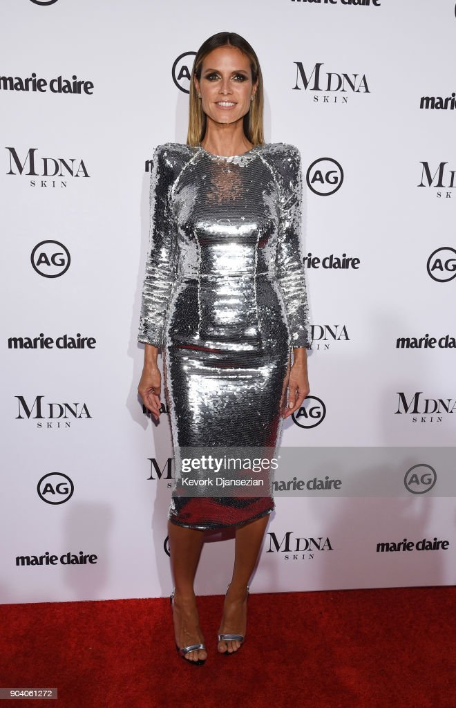 Heidi Klum attends the Marie Claire's Image Maker Awards 2018 at Delilah LA on January 11, 2018 in West Hollywood, California.
