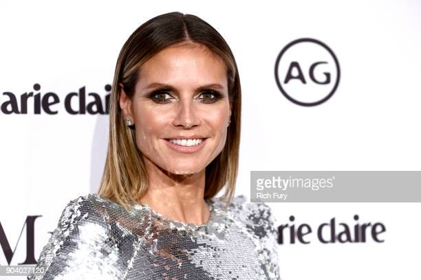 Heidi Klum attends the Marie Claire's Image Makers Awards 2018 on January 11 2018 in West Hollywood California