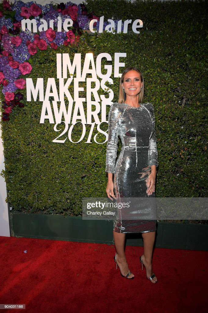 Heidi Klum attends the Marie Claire's Image Makers Awards 2018 on January 11, 2018 in West Hollywood, California.