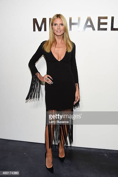 Heidi Klum attends the Michael Kors fashion show during MercedesBenz Fashion Week Spring 2015 at Spring Studios on September 10 2014 in New York City