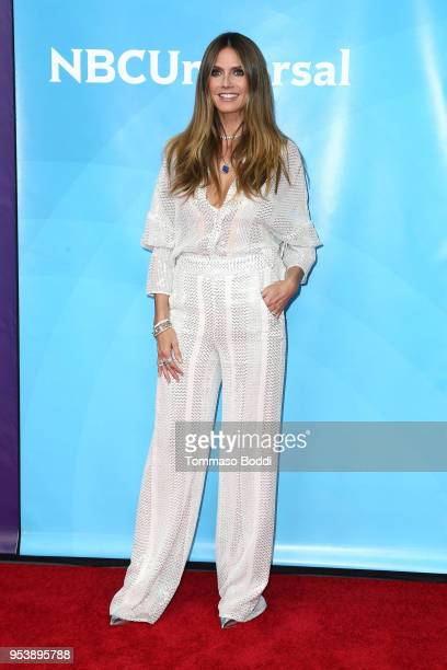 Heidi Klum attends the NBCUniversal Summer Press Day 2018 at Universal Studios Backlot on May 2 2018 in Universal City California